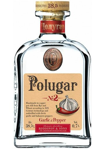 Vodka Polugar N°2 Garlic & Pepper  0,70 lt