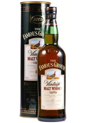 Whisky Famous Grouse Malt 12 anni 1989 0,70 lt.
