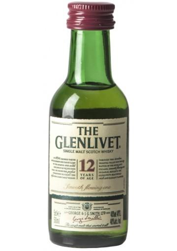 Whisky Glenlivet 12 anni Single Malt Mignon  0,05 cl.
