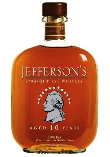 Whisky Jefferson\'s Rye 10 anni 0,70 lt.