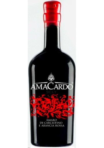 Amacardo Amaro di Carciofino e Arancia Rossa 0,50 lt.