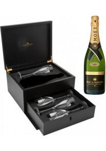 Champagne Moet & Chandon Grand Vintage 2003 con 4 Flutes 0,75 lt.