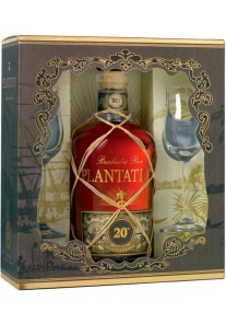 Rum Plantation Barbados 20 Anniversario XO Gift Box con Bicchieri 0,70 lt.
