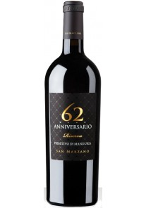 Primitivo di Manduria Cantine San Marzano Anniversario 62 Riserva 2014 0,75 lt.
