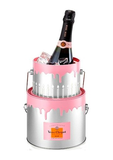 Champagne Veuve Clicquot Rosè Bucket Cake 0,75 lt.