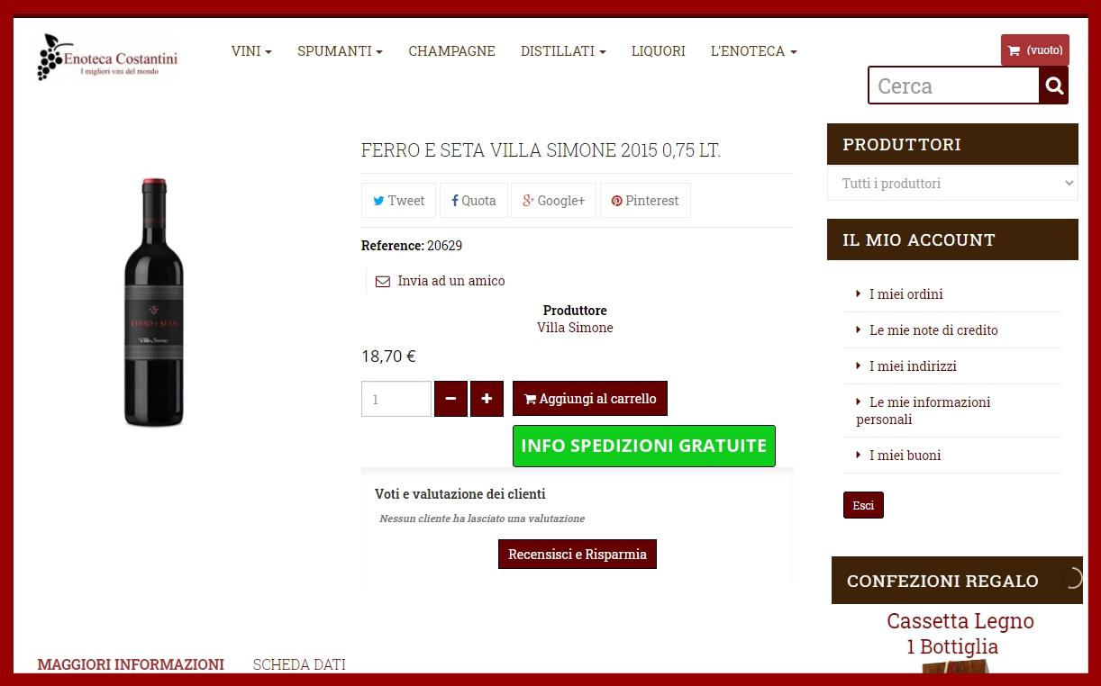 Ferro e Seta Villa Simone 2015 0,75 lt-